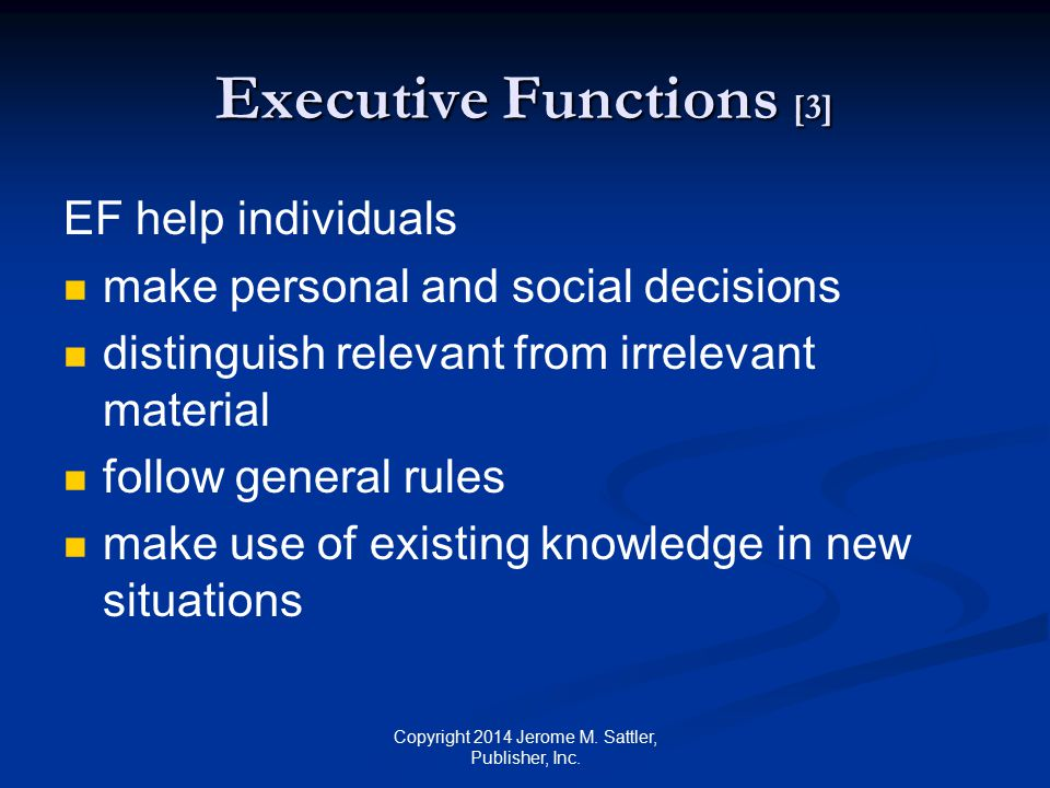 Executive Functions [3]